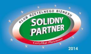 Certyfikat Platynowy | Solidny Partner