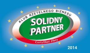 Certyfikat Złoty | Solidny Partner