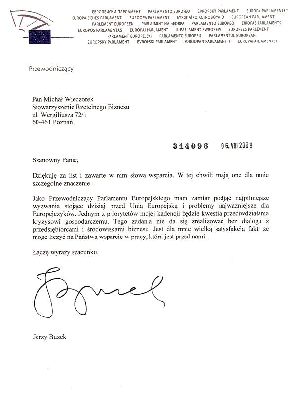 Jerzy Buzek - Przewodniczący Parlamentu Europejskiego | Solidny Partner