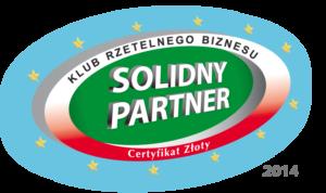 Solidny Partner Certyfikat Złoty 2014